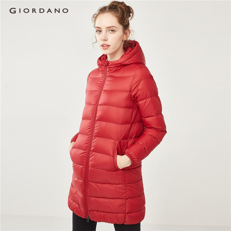 Giordano Beau Monde Women Hooded Lightweight Long Down Jacket [free Shipping] 13378703 By Giordano Official.