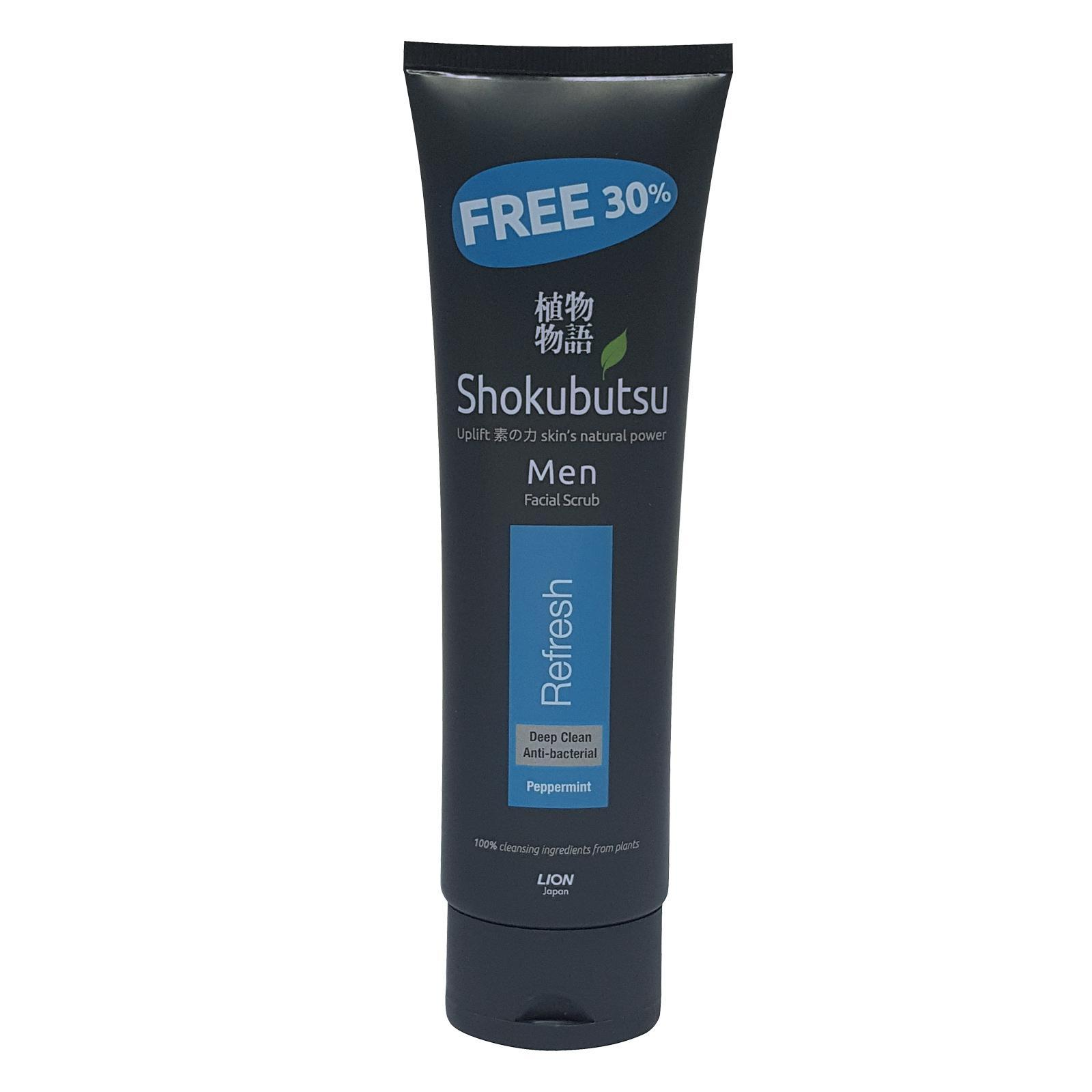Shokubutsu Men Facial Foam And Scrub Extra 30% - Refresh