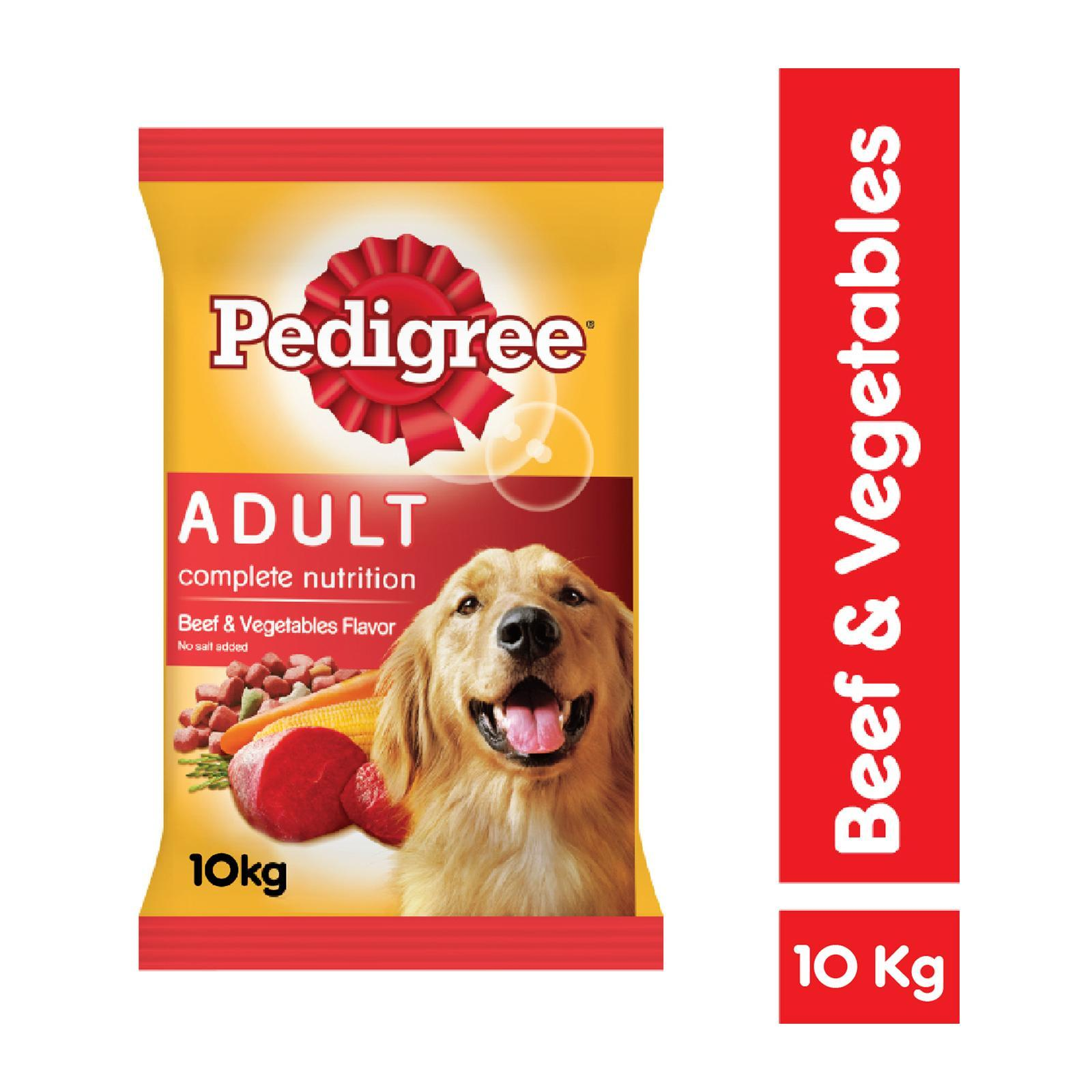 Pedigree Adult Complete Nutrition Beef and Vegetable Dry Dog Food
