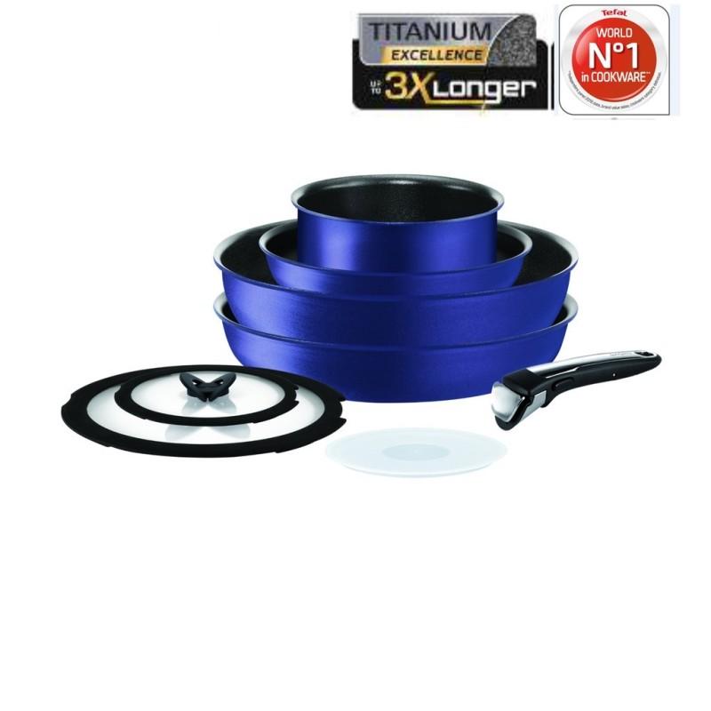 Tefal Ingenio Expertise Blue 8pcs Set L67290 Singapore