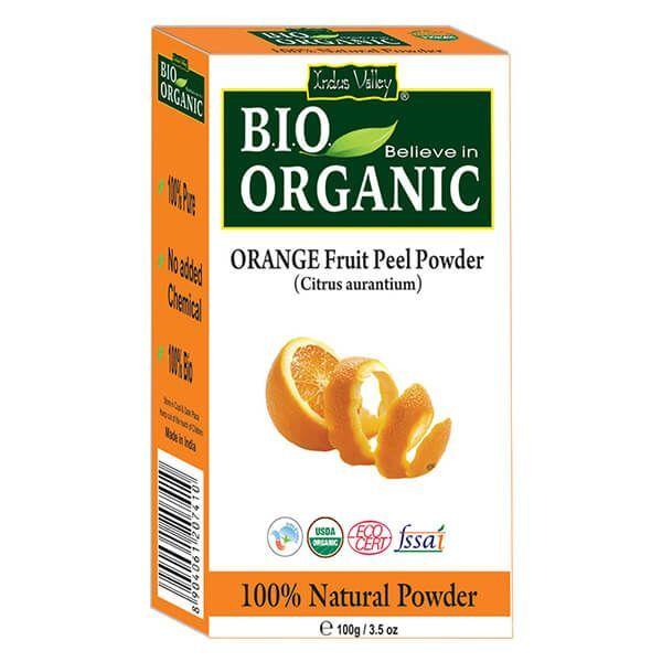 Buy Indus Valley Bio Organic Orange Fruit Peel Powder (Citrus aurantium), 100g Singapore