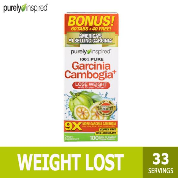 Buy Purely Inspired, Garcinia Cambogia+, 100 Easy-To-Swallow Veggie Tablets Singapore