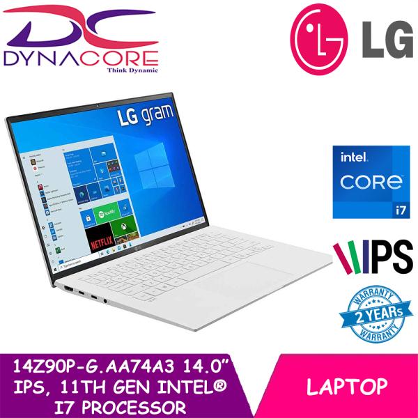 [READY STOCK] DYNACORE - LG gram 14.0 14Z90P-G.AA74A3 Laptop with 16:10 WUXGA IPS Display, 16GB RAM, 11th Gen Intel® Core™ (Certified Evo™ Platform) i7 Processor and Thunderbolt™ 4
