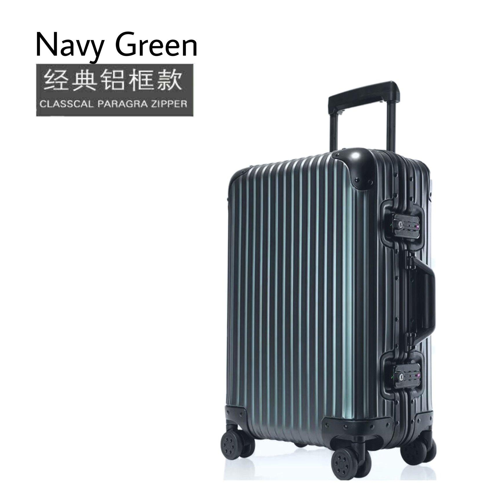 2019 New Solid Small Big Lock Aluminium Alloy Frame Travel Luggage Case With TSA  / Cabin Size Suitcase Trolley Bag / 360 Rotating Wheels 20 22 24 26 28 Inch Hand Carry Boarding Sets Free Cover Men Women Traveller Check In Light Weight Hard Shell  Baggage