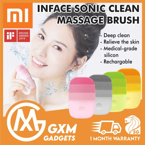 Buy Xiaomi inFace Deep Cleaning Face Skin Care Massager Clean Brush Smart Sonic Electric Massager Brush Singapore