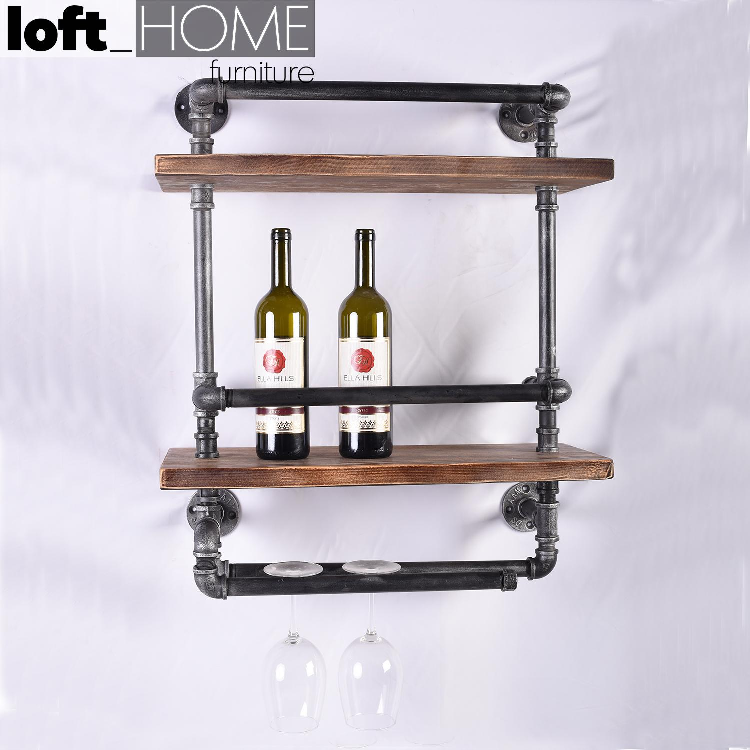 Wall Wine Shelf – Pipe