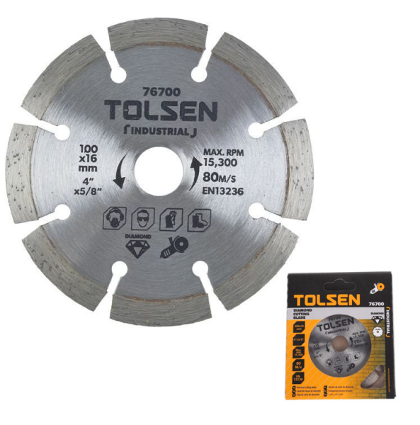 Tolsen Tools by EgHardware, 100mm Diamond Cutting Disc