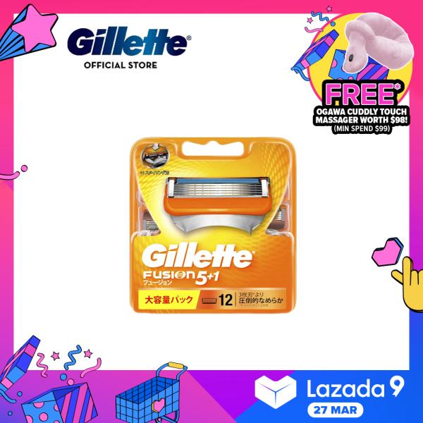 Buy Gillette Fusion Razor Blades 12 Cartridges Refills Singapore