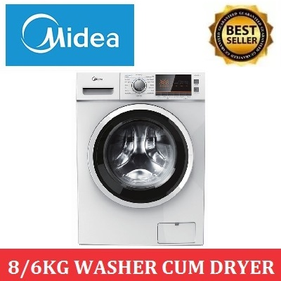 Midea Mfc868w 8/6kg Washer Cum Dryer * 2 Years Local Warranty.