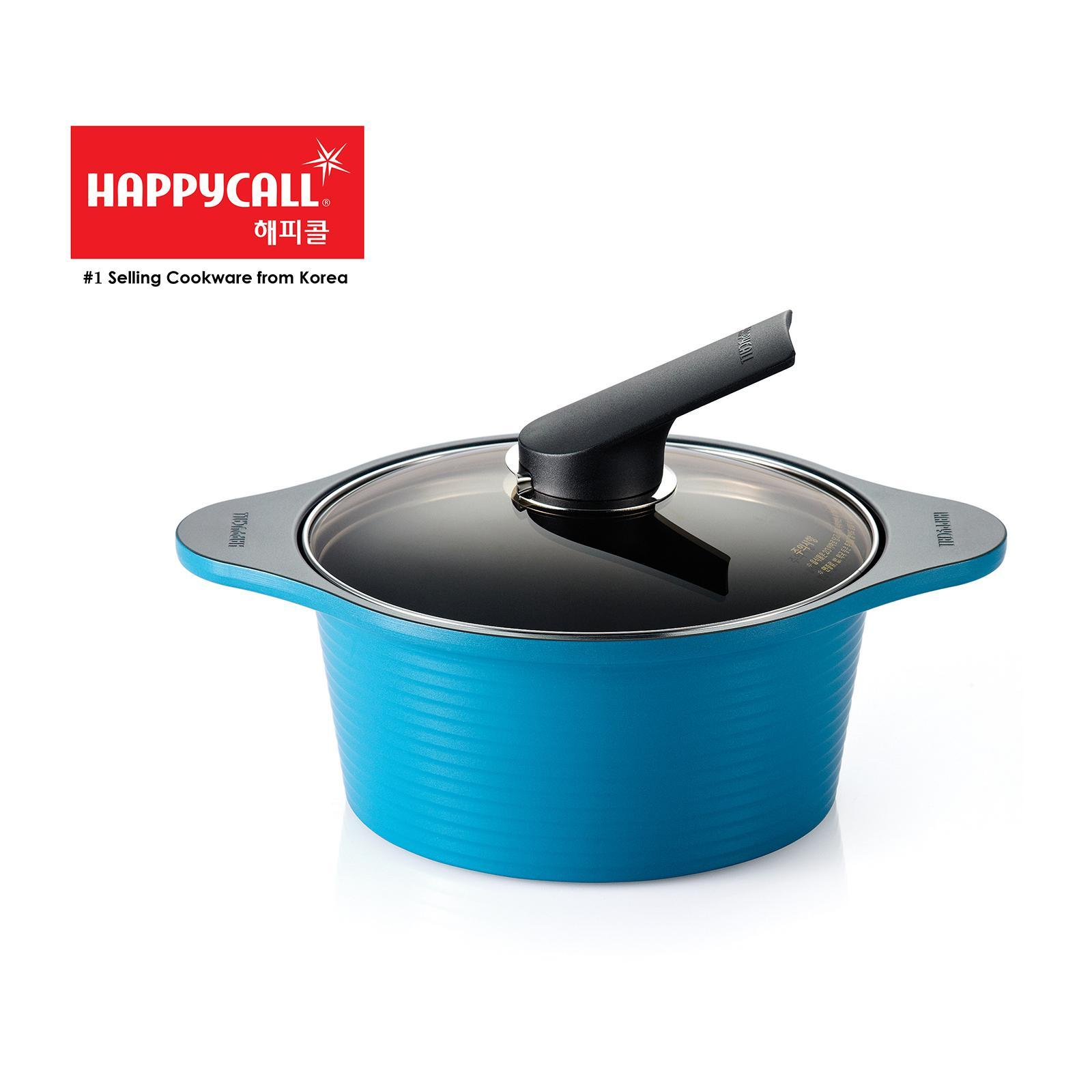 Happycall Die-Cast Stock Pot 20Cm - Blue - By ToTT