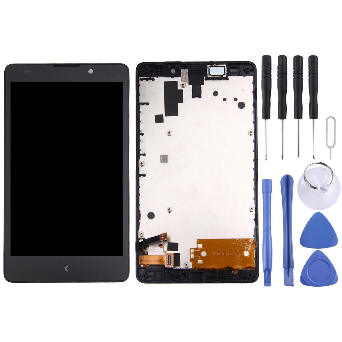 Layar LCD + Sentuh Panel dengan Bingkai untuk Nokia XL (Hitam)