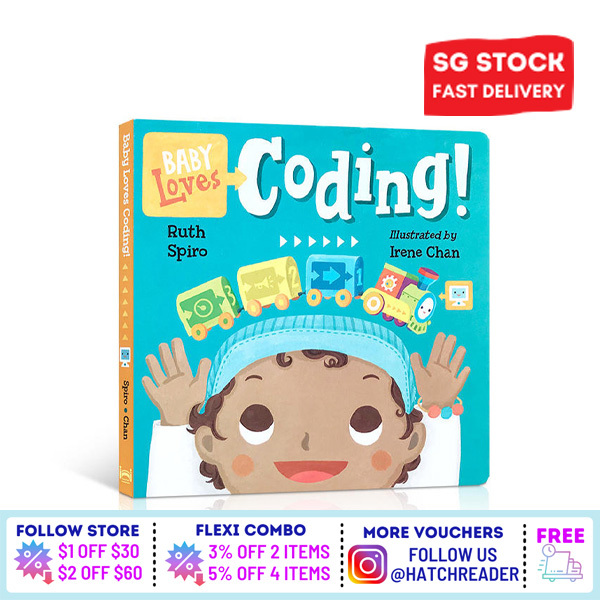 [SG Stock] Baby Loves: Coding Learning book for children toddlers kids baby 2 3 4 5 6 years old early eduaction preschool computer digital