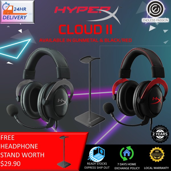 HyperX Cloud II Gaming Headset for PC & PS4 & Xbox One, Nintendo Switch