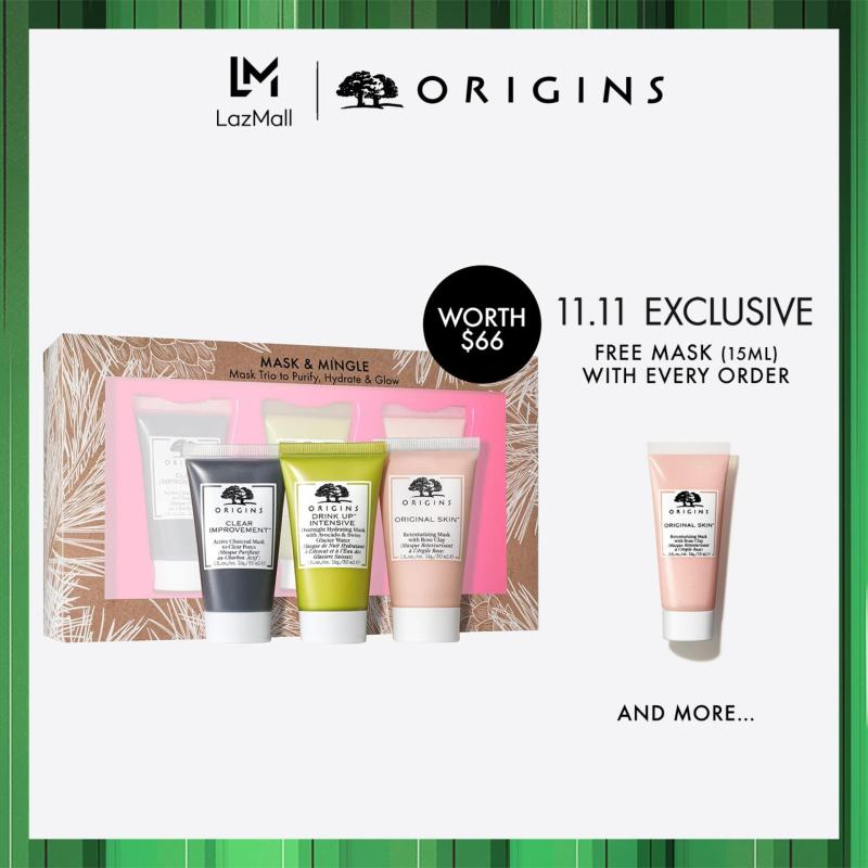 Buy [Limited Edition] Origins MASK & MINGLE: Mask Trio to Purify, Hydrate & Glow (Worth $66) Singapore