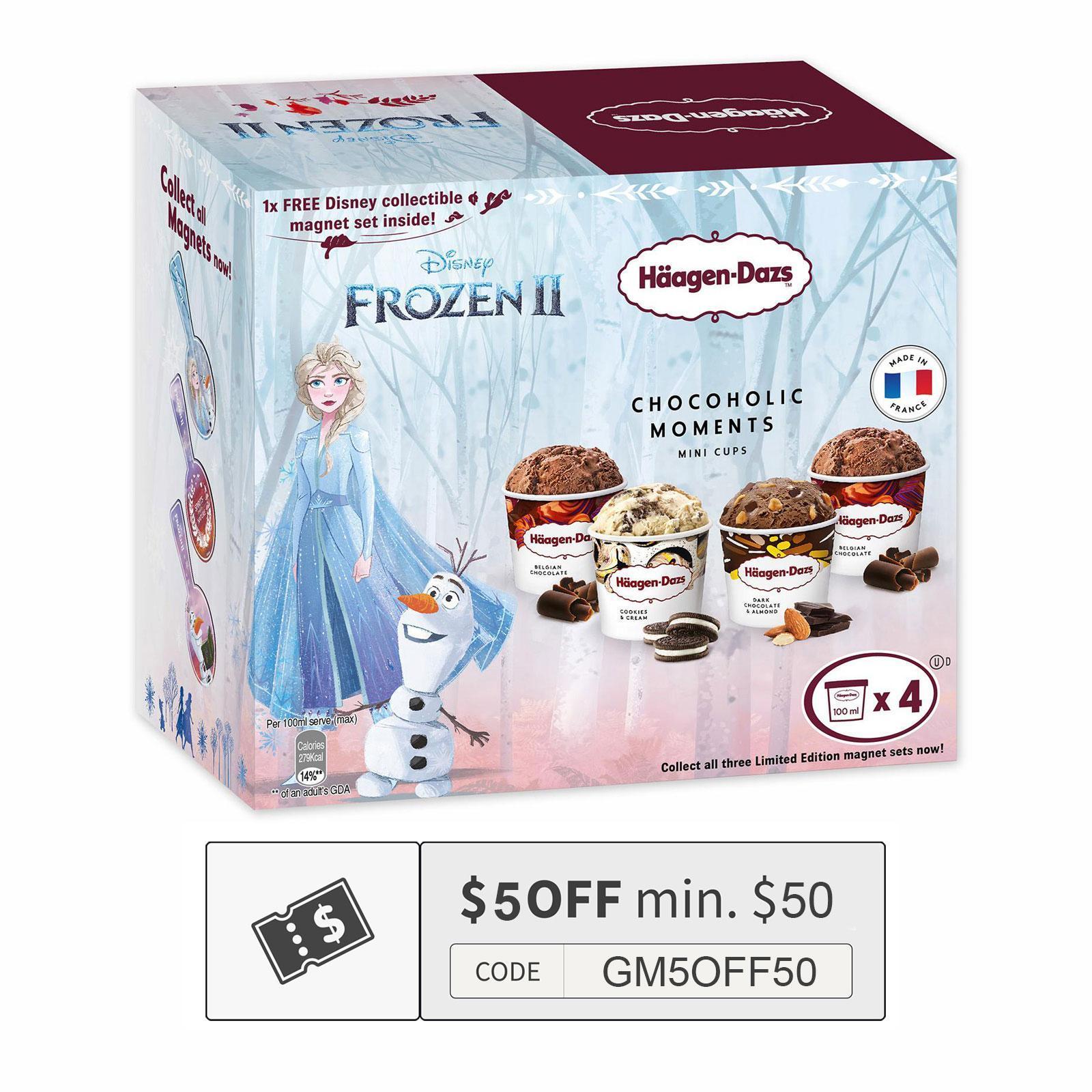 Haagen-Dazs Disney Frozen Chocoholic Moments Ice Cream