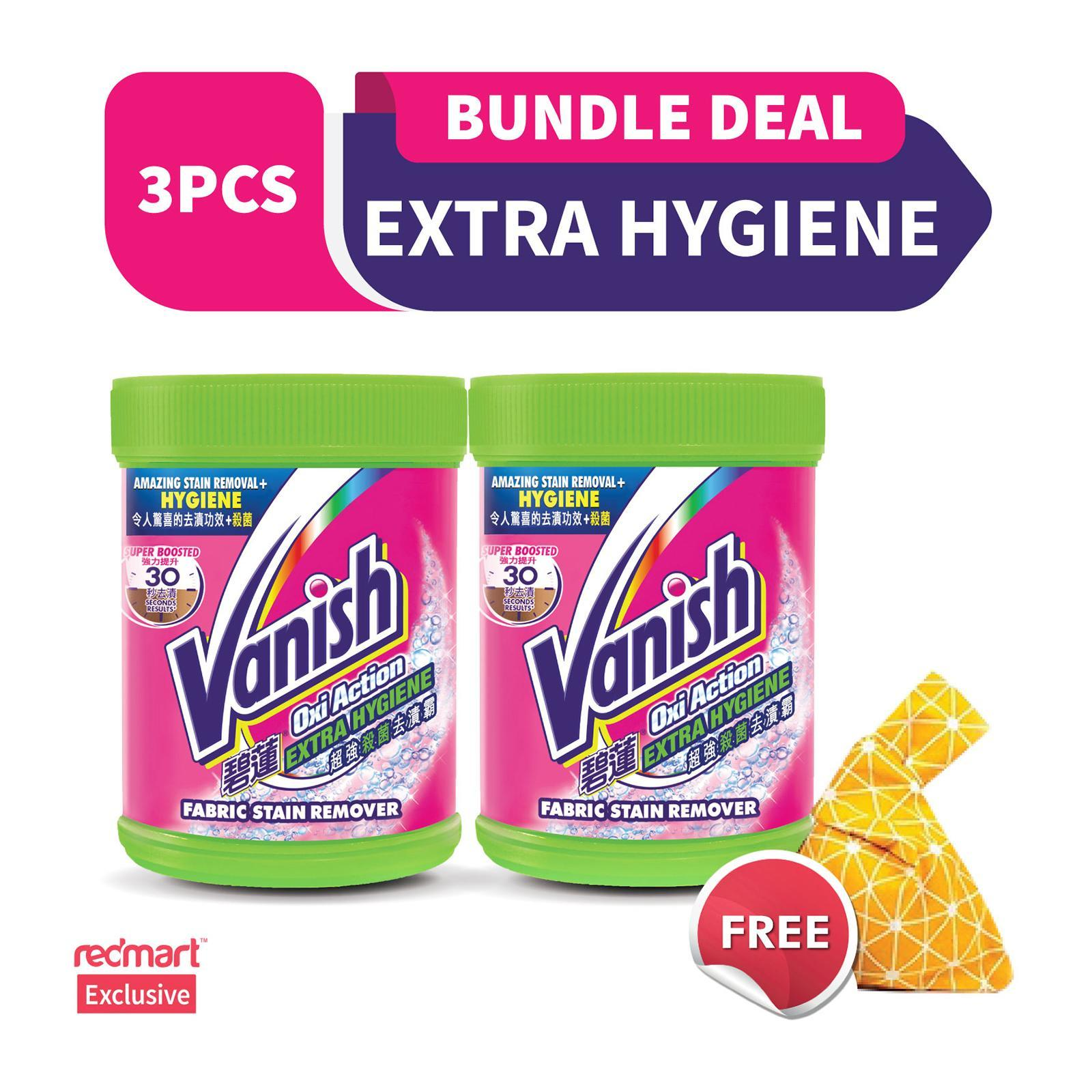 Vanish Power Oxi-Action Extra Hygiene Laundry Fabric Stain Remover 1.6KG And Free Vanish Sachet 120G Bundle Pack