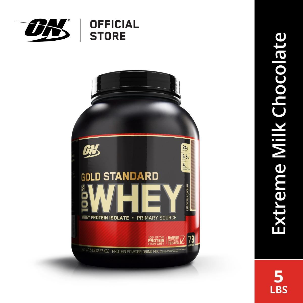 Optimum Nutrition Gold Standard Whey (5 Lbs) - Extreme Milk Chocolate By Body & Fit.