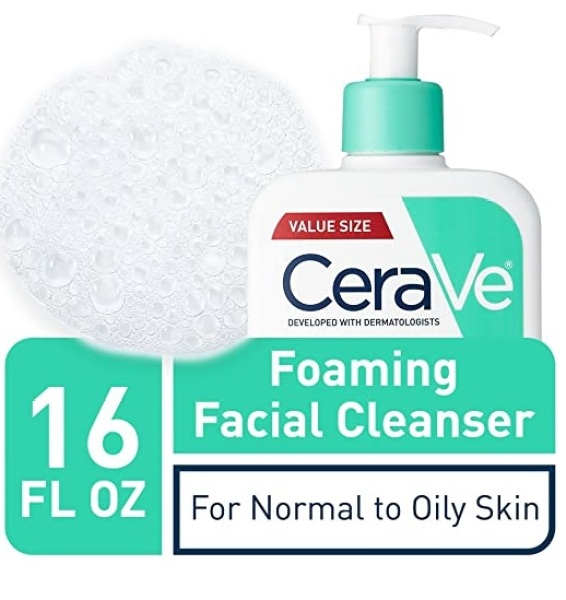 Buy CeraVe Foaming Facial Cleanser for Daily Face Washing, Normal to Oily Skin, 16 oz Singapore