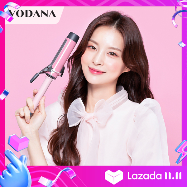 Buy VODANA  Hair Curler 40mm  big Waver Hair  Ceramic Heating Plate electric roll stick fast heating negative ion curly hair iron  Not Hurt Hair  Professional Hair Styling Tool With 360° Rotating Power Cord  curling wand korean   (white/Pink/Black/Pueple) Singapore