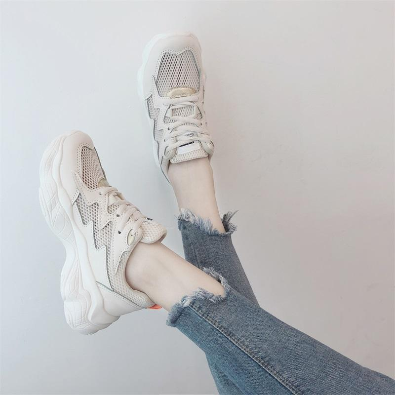 Summer Ins เสื้อผ้าแฟชั่น Fashion Mesh Oldpapa Shoes Female 2019 New Style Online Celebrity Breathable Versatile Students Macbook Athletic Shoes Womens Shoes By Taobao Collection.