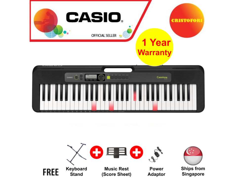Casio Lk-S250 New Generation Casiotone , Compact Portable Lightweight Casio Keyboard 61 Keys With Carry Handle, Optional Power By Batteries ( Lks250 / Lks 250 ).