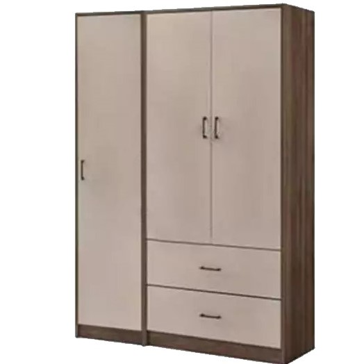 [A-STAR] 3 Door Wardrobe Cabinet with Drawers Multi Shelving Oak Maple  (Free Install)