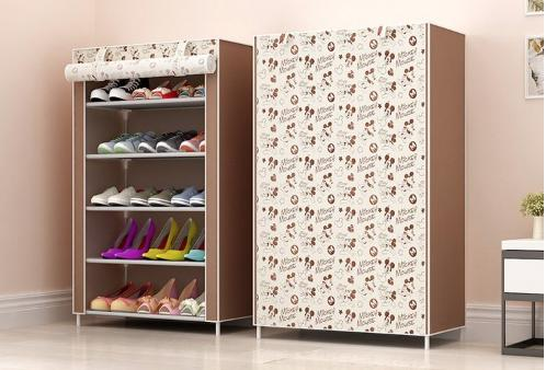 (5 Tier) Shoe Rack/Shoe Shelf/Shoe Cabinet Dust Durable and WaterProof Perfect for Placing outside of HDB house out