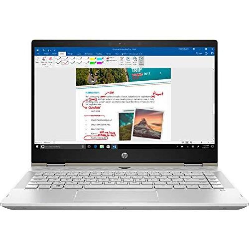Latest_HP-Pavilion 2-in-1 14.0 FHD Touchscreen High Performance Laptop,Intel 8th Generation Core i5 Processor,8GB RAM,128GB SSD, Webcam,Wireless+Bluetooth,Backlit Keyboard,Fingerprint,Windows 10