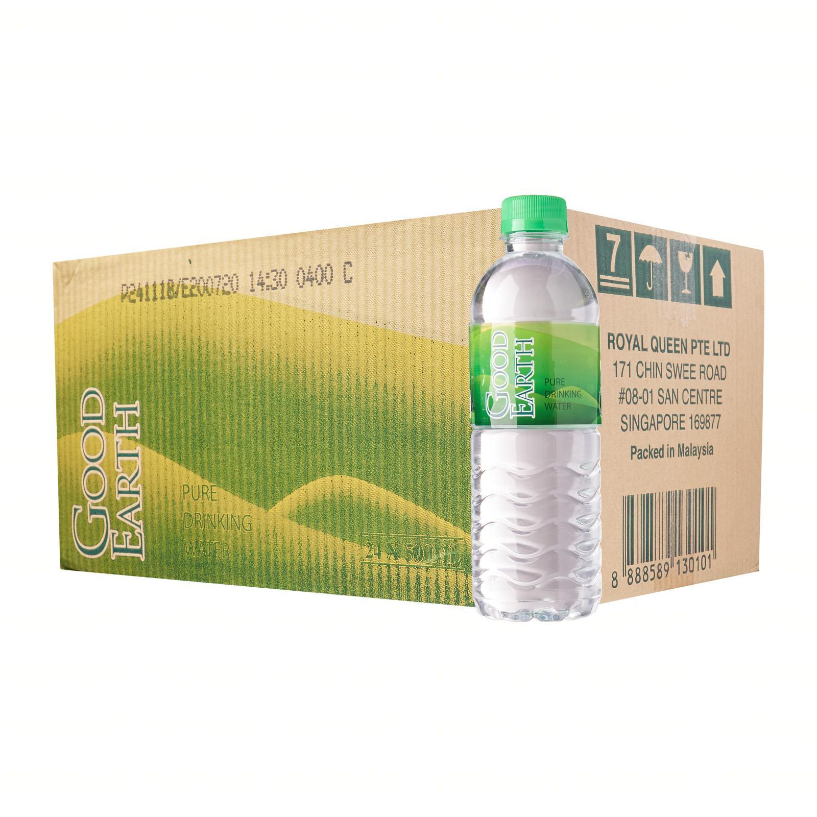 Good Earth Pure Drinking Water 500ml 24s - Case