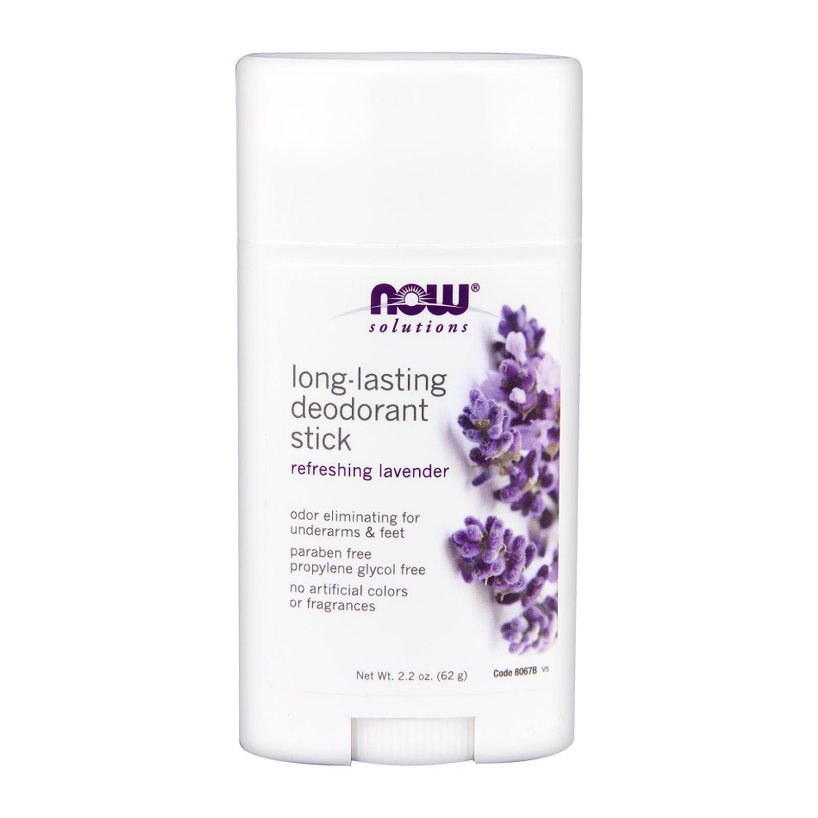 Now Foods Long-Lasting Deodorant Stick Refreshing Lavender 2.2 Oz (62 G)