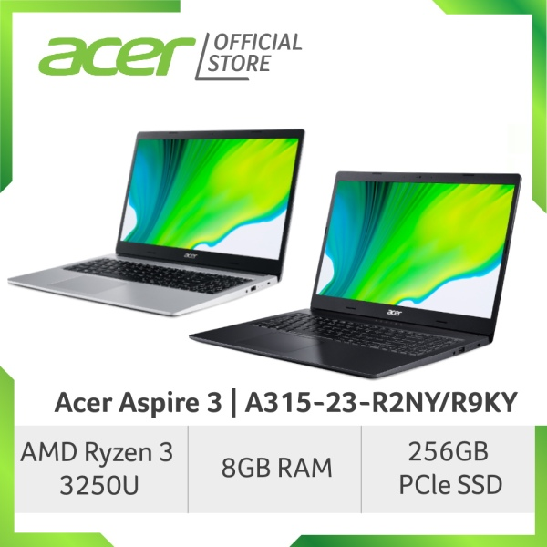 Acer Aspire 3 A315-23-R2NY/R9KY(Silver/Black) 15.6 Inch FHD Laptop with Ryzen Processor and 8GB RAM