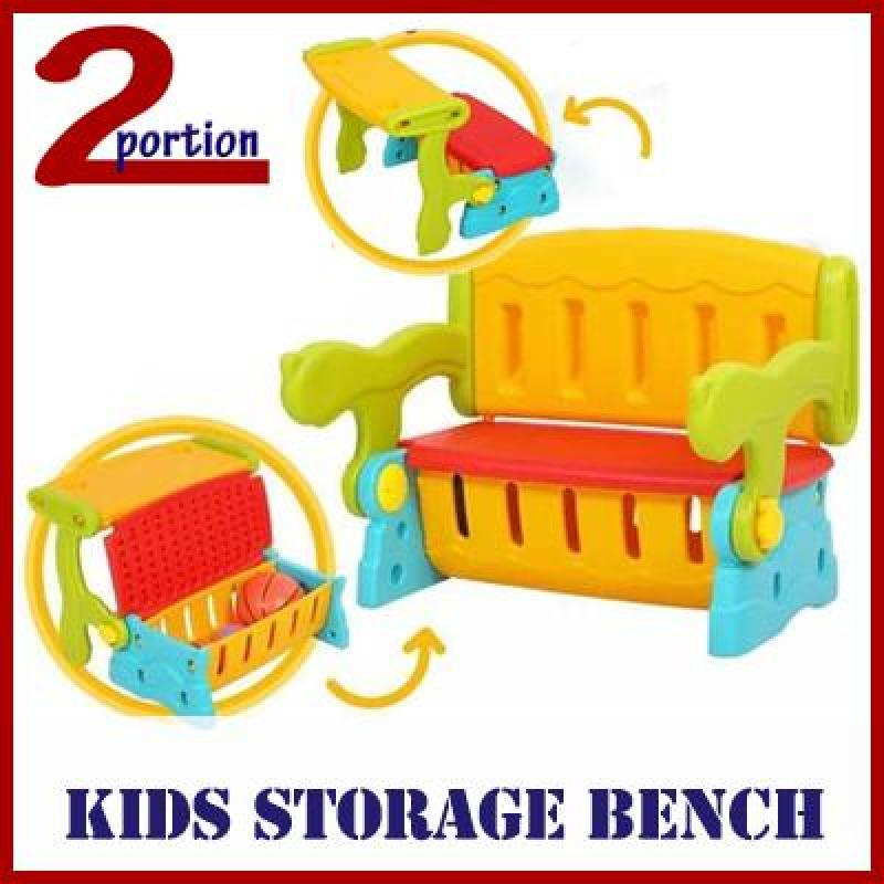 Kids Children Toys Storage Bench Chair - Interchangeable Table/Chair/Storage
