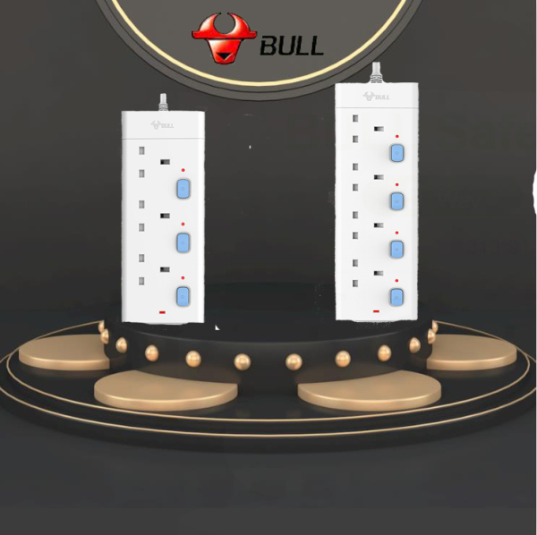 【Local seller】BULL Socket GNSG-E3030-18 GNSG-E3040-18 3\4\Way 1.8M Independent switch With Singapore Certification Beautiful and practical Suitable for home appliances such as computers refrigerators TVs electric fans etc.