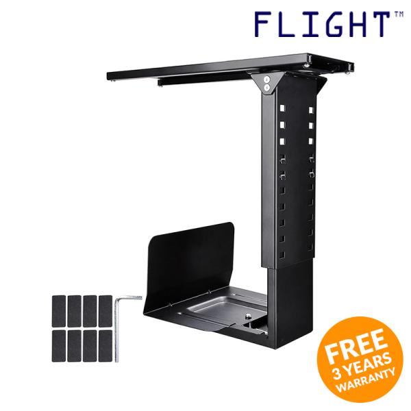 CPU Holder, Black, Max Load 15kg, Home Office Ergonomics, Office Furniture - CP-500 - Flight