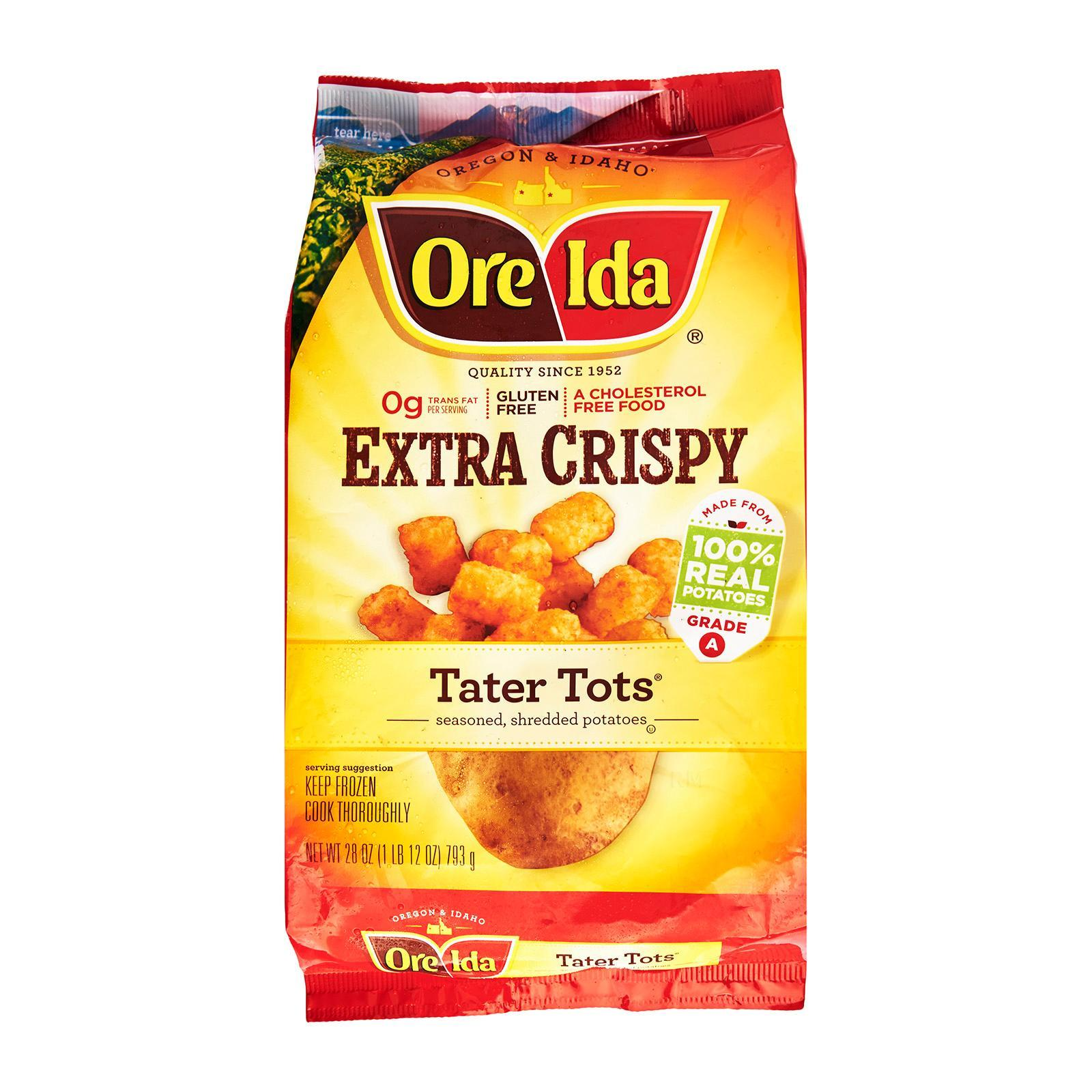 Ore Ida Extra Crispy Tater Tots - Frozen By Redmart.