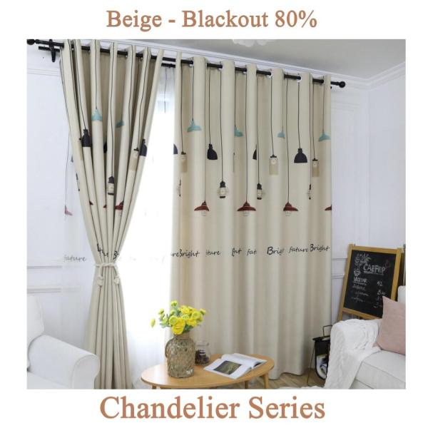 Chandelier Series Blackout Curtain - 150cm by 250cm (Ring)