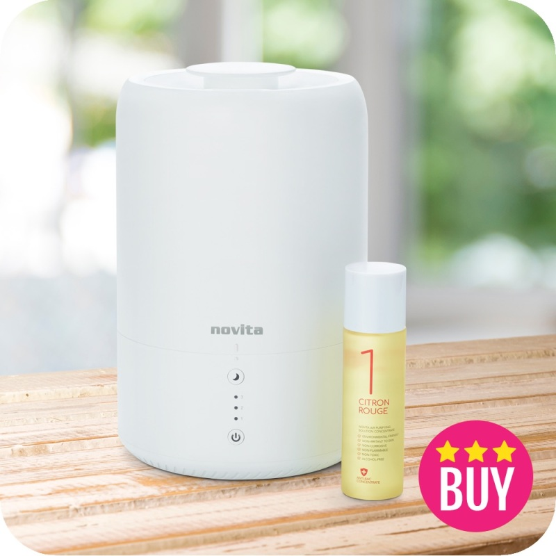 Novita Humidifier NH 810 With 1 Bottle Of Air Purifying Concentrate Singapore