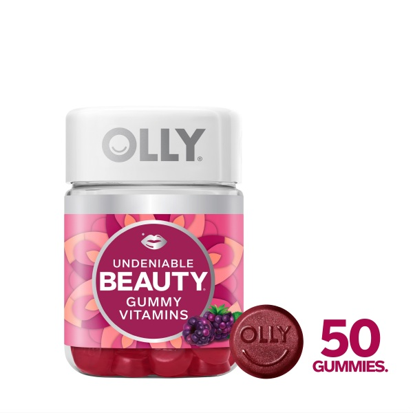 Buy OLLY Undeniable Beauty Gummy Vitamins With Antioxidants, Minerals, Botanicals, For Hair, Skin, Chewable Supplement, 25 Day Supply (50 Count) Singapore
