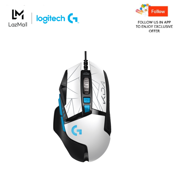 Logitech G502 HERO K/DA High Performance Wired Gaming Mouse - HERO 25K, LIGHTSYNC RGB, Adjustable Weights, 11 Programmable Buttons, On-Board Memory, Official League of Legends Gaming Gear KDA