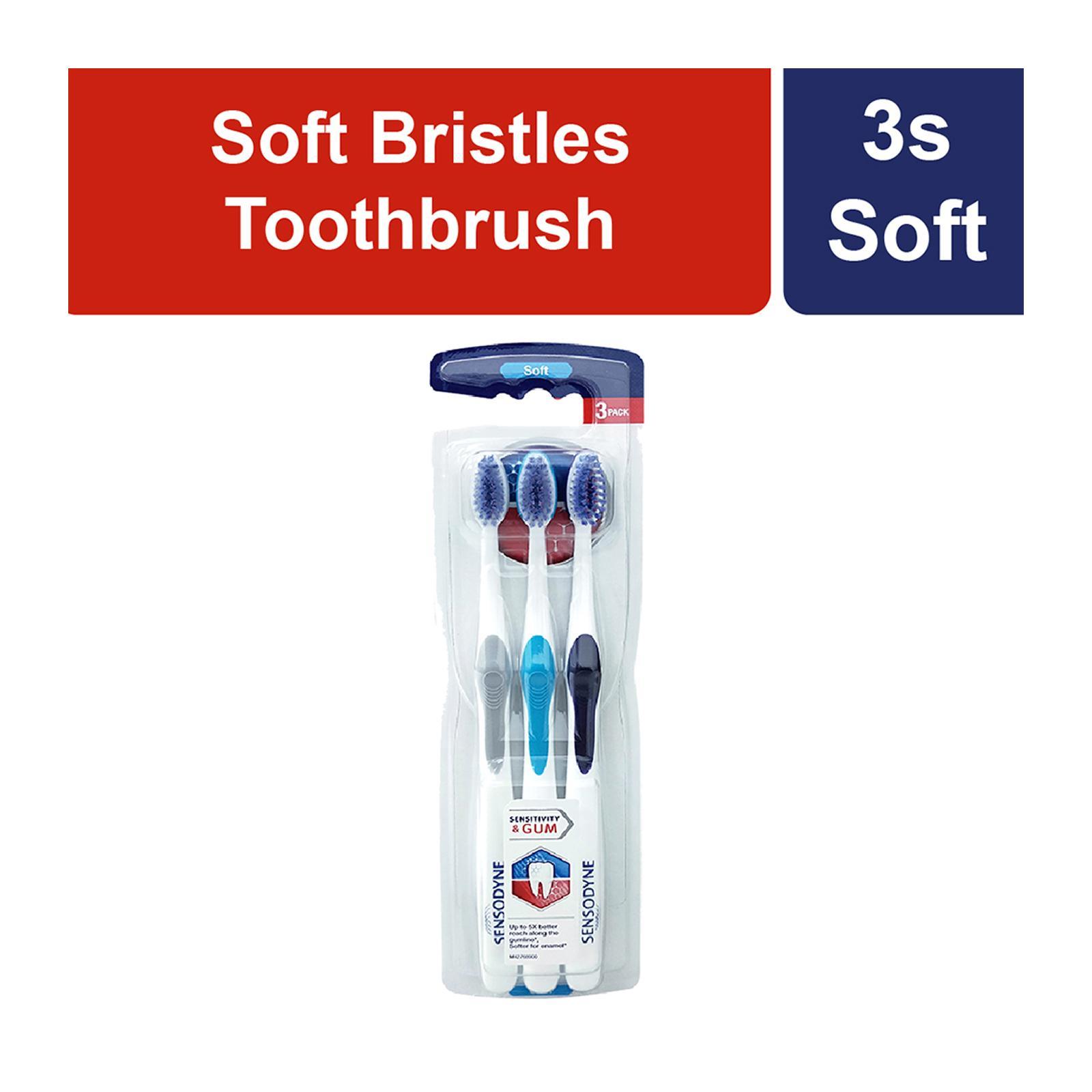 Sensodyne Sensitivity and Gum Soft 3s Toothbrush