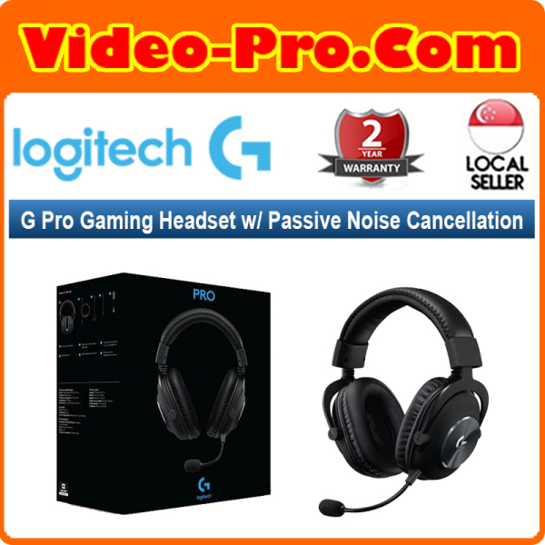 Logitech G Pro Gaming Headset with Passive Noise Cancellation 981-000814 2-Years Local Warranty