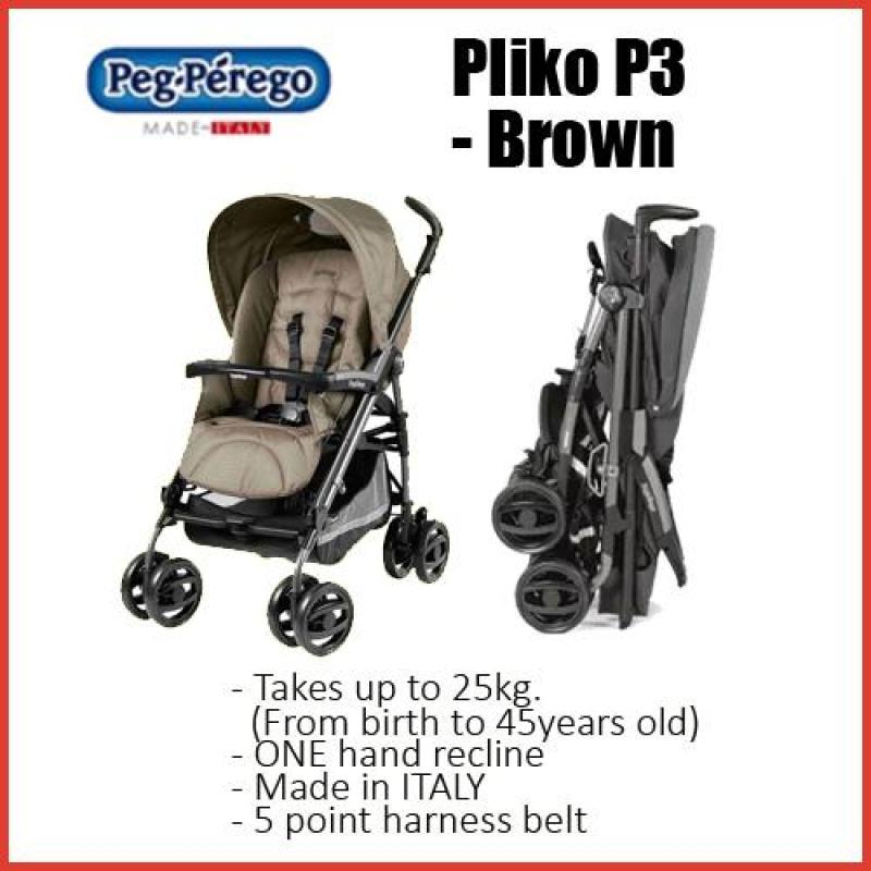 Peg Perego Pliko P3★MADE IN ITALY★Newborn to25kg★Fully recline★adjustable footrest★Platformto rideon Singapore