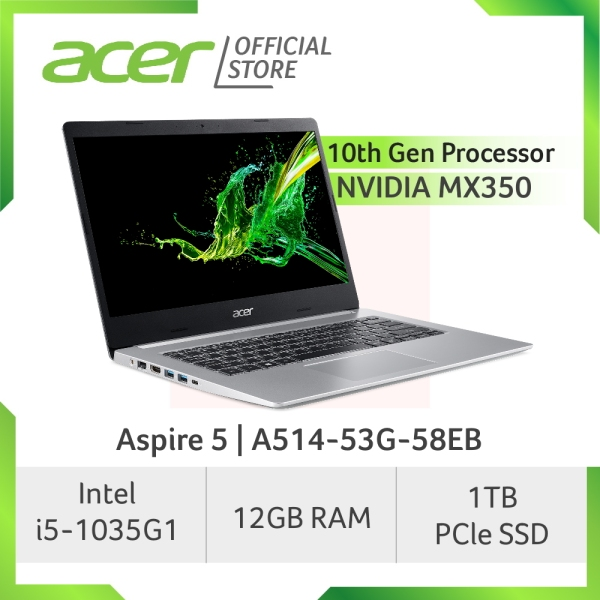 [LATEST-JUST ARRIVED] Acer Aspire 5 A514-53G-58EB laptop with 10th Gen Intel Core processor and 12GB RAM