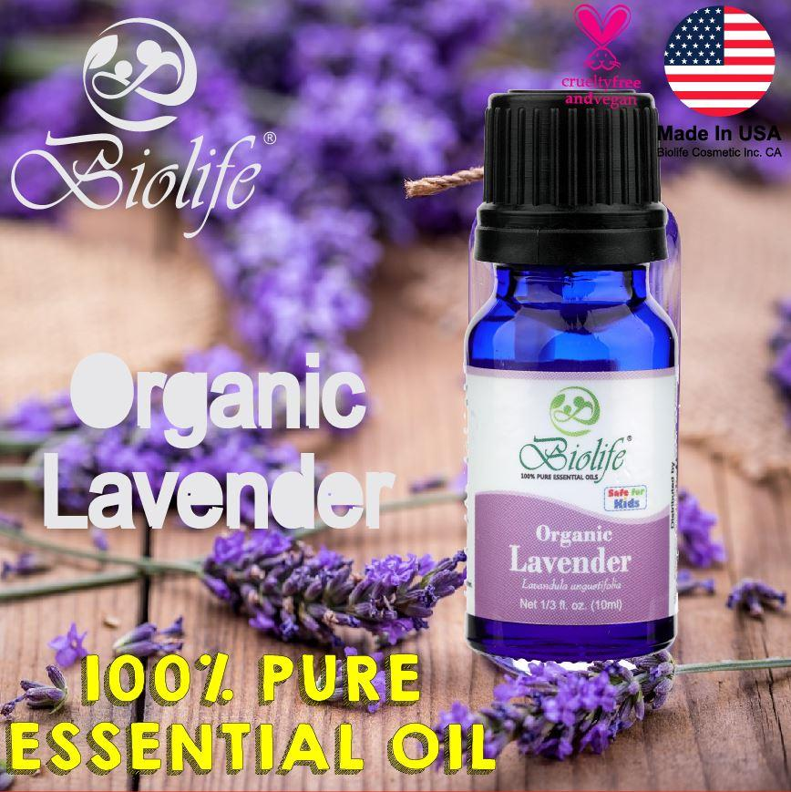 Biolife Organic Lavender, 100% Pure And Natural Organic Essential Oil (made In Usa), 10ml Bottle By Cabs Professional.