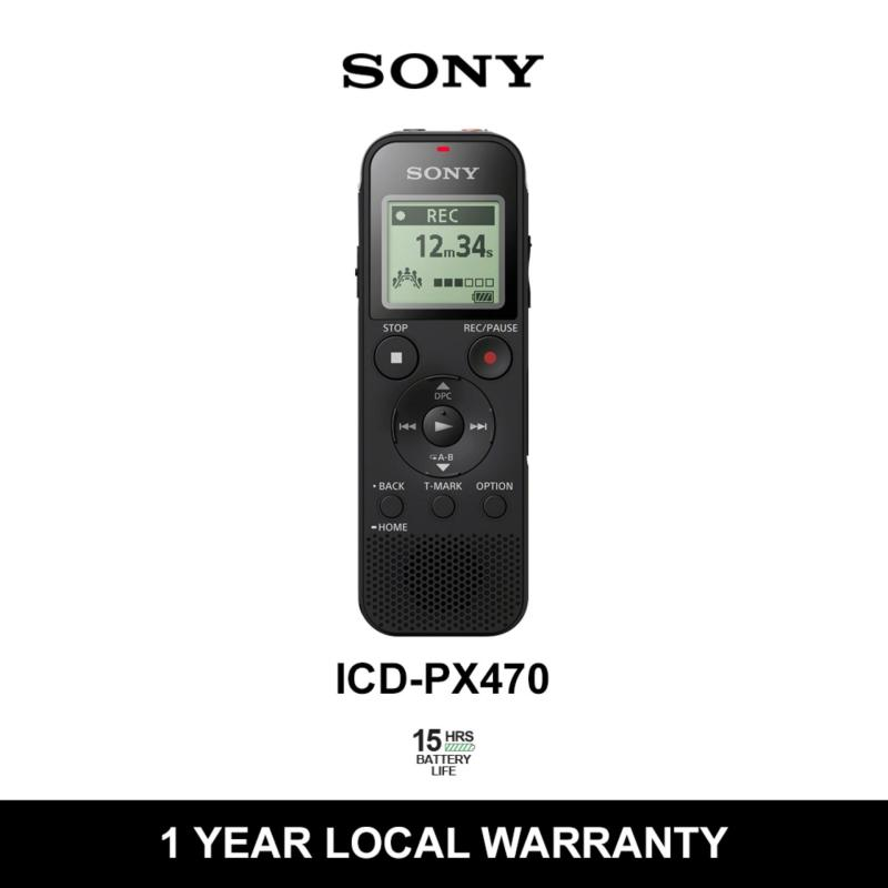 Sony Digital Voice Recorder PX Series with 4GB Built-in Memory, USB and Mirco SD Slot Singapore