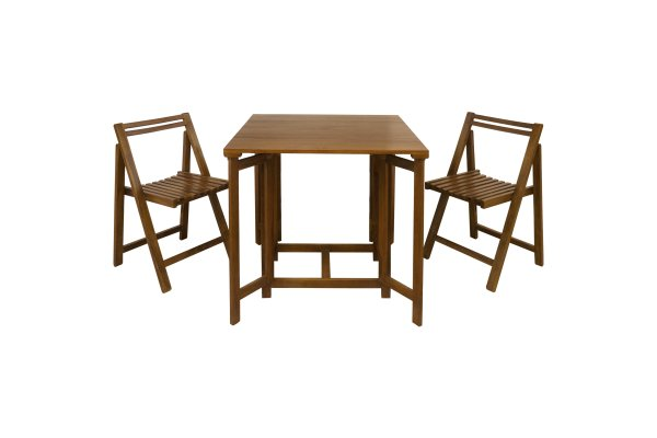 Scanteak Lyft Foldable Dining Set 1 Table + 2 Chairs