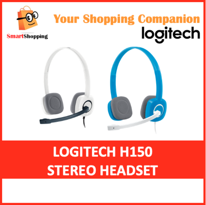 Logitech H150 Stereo Headset Dual plug computer headset with in-line controls 2 Year SG Warranty Singapore
