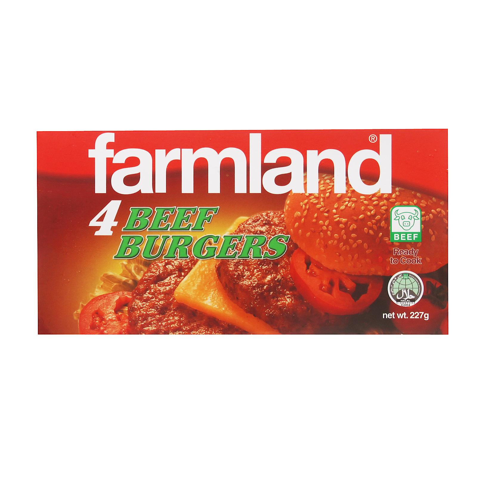 Farmland Beef Burger 4s - Frozen