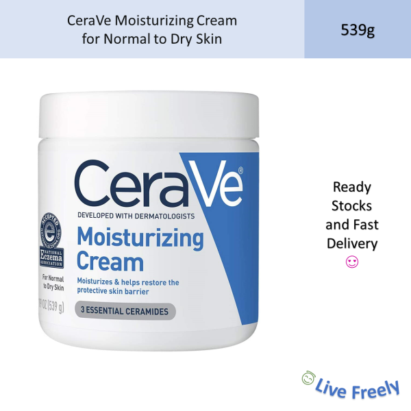 Buy CeraVe Moisturising Cream for Normal to Dry Skin Fragrance Free Moisturizing Moisturizer 539g 19oz Singapore