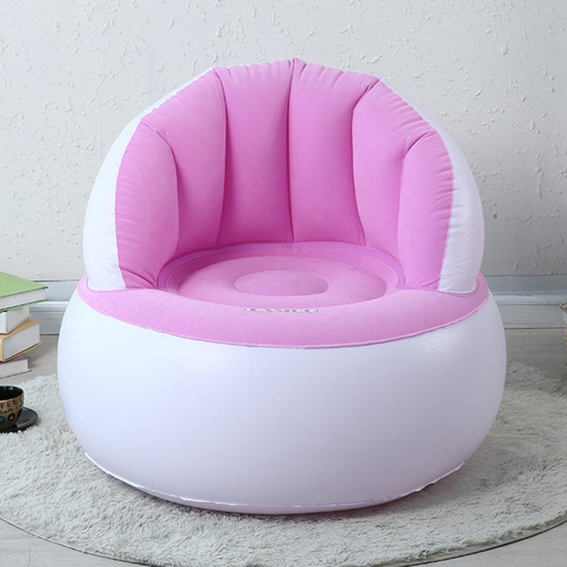 Saomai pink Inflatable sofa beanbag chair single folding sofa creative bedroom living room sofa for child relax seat